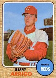 1968 Topps Baseball Cards      302     Gerry Arrigo