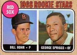 1968 Topps Baseball Cards      314     Rookie Stars-Bill Rohr-George Spriggs