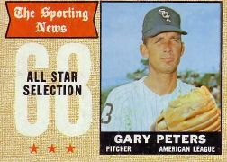 1968 Topps Baseball Cards      379     Gary Peters AS