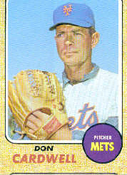 1968 Topps Baseball Cards      437     Don Cardwell
