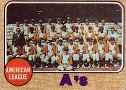 1968 Topps Baseball Cards      554     Oakland Athletics TC