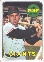 1969 Topps Baseball Cards      102     Jim Davenport