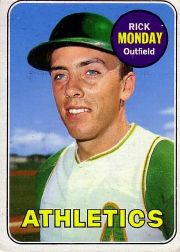 1969 Topps Baseball Cards      105     Rick Monday