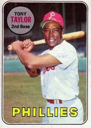 1969 Topps Baseball Cards      108     Tony Taylor