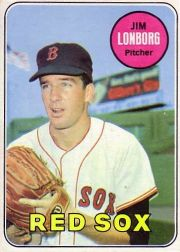 1969 Topps Baseball Cards      109     Jim Lonborg