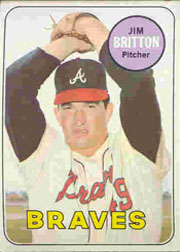 1969 Topps Baseball Cards      154     Jim Britton