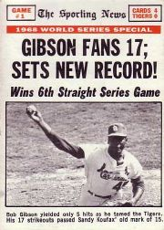 1969 Topps Baseball Cards      162     World Series Game 1-Bob Gibson