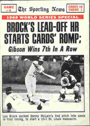 1969 Topps Baseball Cards      165     World Series Game 4-Lou Brock