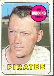 1969 Topps Baseball Cards      175     Jim Bunning