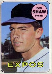 1969 Topps Baseball Cards      183     Don Shaw