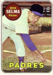 1969 Topps Baseball Cards      197     Dick Selma