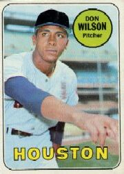 1969 Topps Baseball Cards      202     Don Wilson