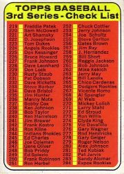 1969 Topps Baseball Cards      214     Checklist 3
