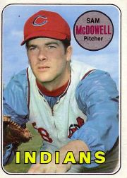 1969 Topps Baseball Cards      220     Sam McDowell