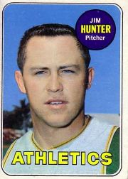 1969 Topps Baseball Cards      235     Jim Hunter