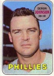 1969 Topps Baseball Cards      297     Deron Johnson