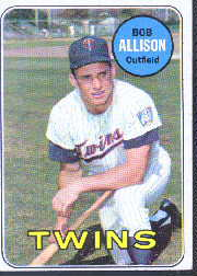 1969 Topps Baseball Cards      030      Bob Allison