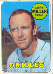 1969 Topps Baseball Cards      323     Larry Miller