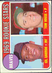 1969 Topps Baseball Cards      331     Rookie Stars-Gil Garrido-Tom House RC