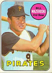 1969 Topps Baseball Cards      335     Bill Mazeroski
