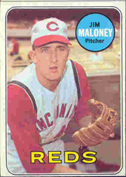 1969 Topps Baseball Cards      362     Jim Maloney
