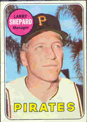 1969 Topps Baseball Cards      384     Larry Shepard MG