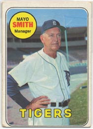 1969 Topps Baseball Cards      040      Mayo Smith MG