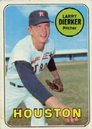 1969 Topps Baseball Cards      411     Larry Dierker