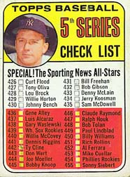 1969 Topps Baseball Cards      412     Checklist 5/Mickey Mantle DP