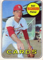 1969 Topps Baseball Cards      415     Ray Washburn