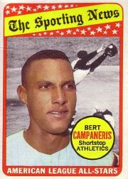 1969 Topps Baseball Cards      423     Bert Campaneris AS