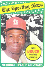 1969 Topps Baseball Cards      428     Lou Brock AS