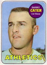 1969 Topps Baseball Cards      044      Danny Cater