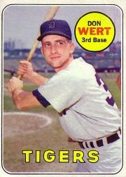 1969 Topps Baseball Cards      443     Don Wert