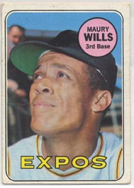 1969 Topps Baseball Cards      045      Maury Wills