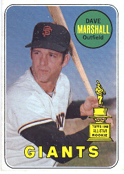 1969 Topps Baseball Cards      464A    Dave Marshall RC
