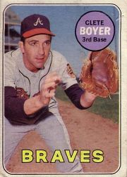 1969 Topps Baseball Cards      489     Clete Boyer