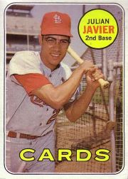 1969 Topps Baseball Cards      497     Julian Javier