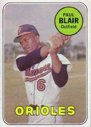 1969 Topps Baseball Cards      506     Paul Blair