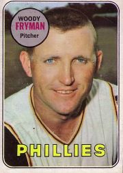 1969 Topps Baseball Cards      051      Woody Fryman