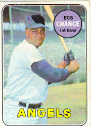 1969 Topps Baseball Cards      523     Bob Chance