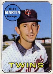 1969 Topps Baseball Cards      547     Billy Martin MG