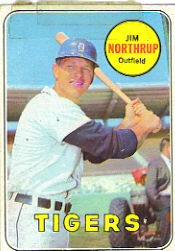 1969 Topps Baseball Cards      580     Jim Northrup