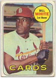 1969 Topps Baseball Cards      588     Bill White