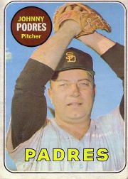 1969 Topps Baseball Cards      659     Johnny Podres