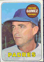 1969 Topps Baseball Cards      074      Preston Gomez MG