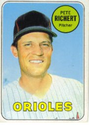 1969 Topps Baseball Cards      086      Pete Richert