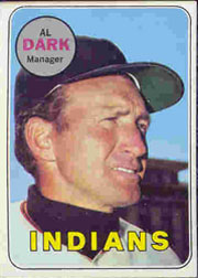 1969 Topps Baseball Cards      091      Alvin Dark MG
