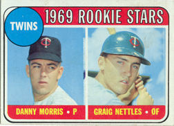 1969 Topps Baseball Cards      099A     Danny Morris RC-Graig Nettles RC ERR Black Loop