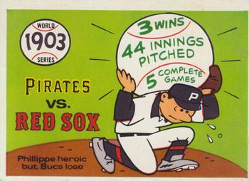 1970 Fleer World Series 001       1903 Red Sox/Pirates